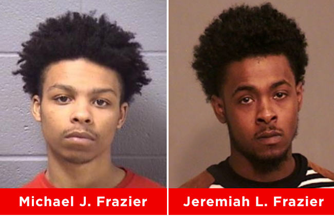 JOLIET POLICE ARE SEEKING THE WHEREABOUTS OF MICHAEL FRAZIER AND JEREMIAH FRAZIER